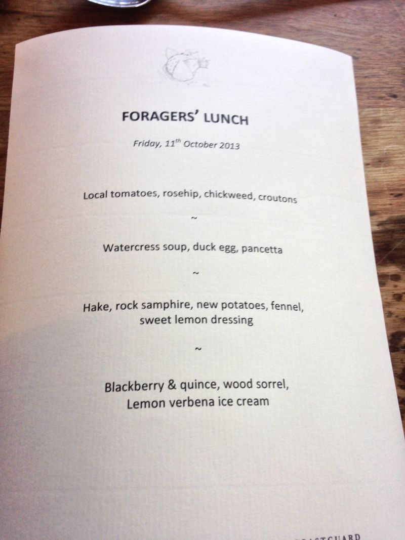 Foragers lunch menu
